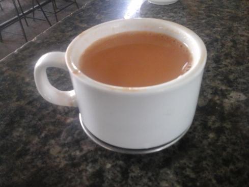 herbata z mlekiem