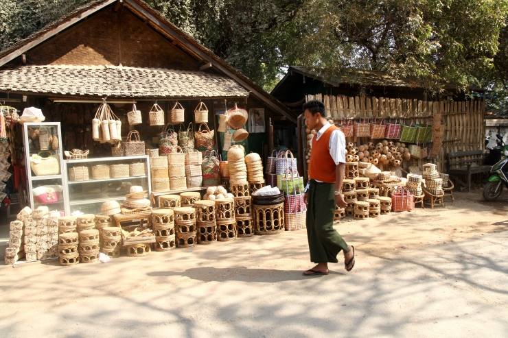 mezczyzna w Birmie
