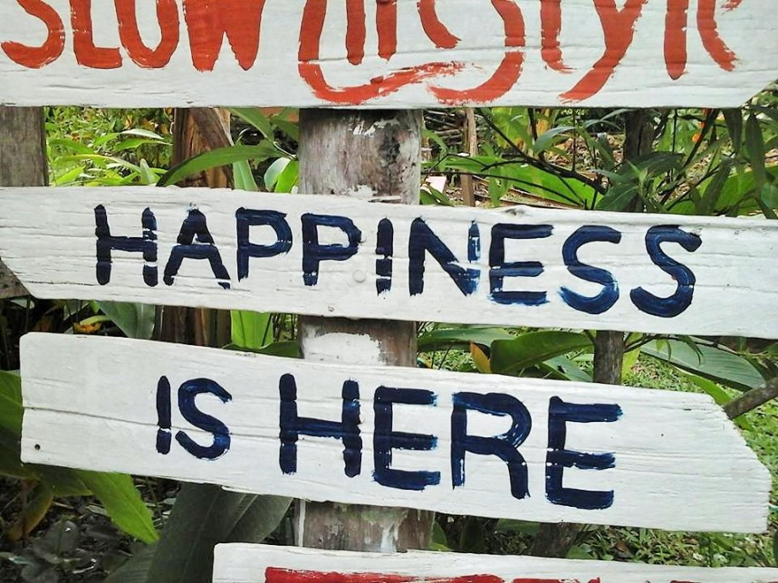 happiness is here